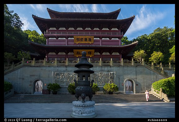 Upper Jingci Buddhist Temple. Hangzhou, China (color)