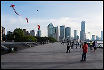 Kites flying above the Bund. Shanghai, China ( color)