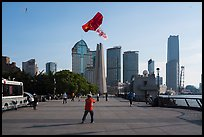 Kite and Peoples Memorial Tower, the Bund. Shanghai, China ( color)