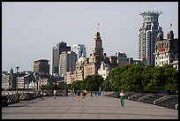 Promenade and colonial buildings, the Bund. Shanghai, China ( color)