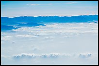 Aerial view of mountains above cloud layer. Taiwan (color)