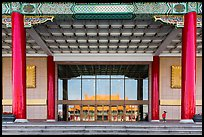 National Theater with reflections of National Concert Hall. Taipei, Taiwan (color)