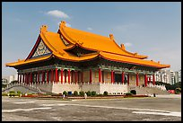National Concert Hall on Chiang Kai-shek memorial grounds. Taipei, Taiwan (color)