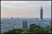 Taipei skyline with Taipei 101 tower. Taipei, Taiwan (color)