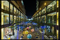 Shopping mall at night. Taipei, Taiwan (color)