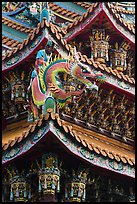 Roof detail, Guandu Temple. Taipei, Taiwan ( color)