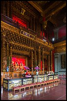Inside main room, Guandu Temple. Taipei, Taiwan (color)