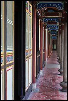 Gallery, West Side building, Confuscius Temple. Taipei, Taiwan (color)