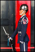 Guard, Martyrs Shrine. Taipei, Taiwan (color)