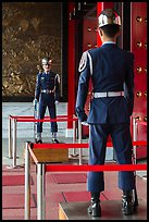 Honor Guards, Martyrs Shrine. Taipei, Taiwan (color)
