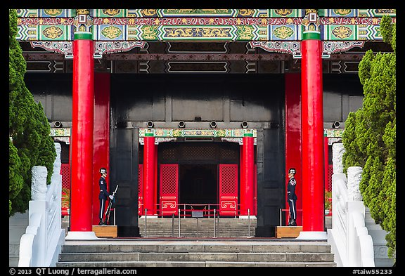 National Revolutionary Martyrs Shrine. Taipei, Taiwan (color)