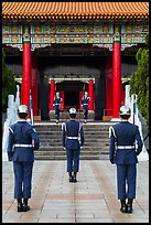 Changing of the honor guard, Martyrs Shrine. Taipei, Taiwan (color)