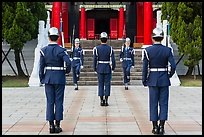 Changing of the guard ritual, Martyrs Shrine. Taipei, Taiwan (color)
