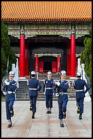 Changing of guards from Republic of China Military, Martyrs Shrine. Taipei, Taiwan (color)