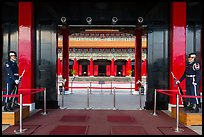 National Revolutionary Martyrs Shrine and sentries. Taipei, Taiwan (color)