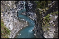 Liwu River meanders in narrow marble gorge. Taroko National Park, Taiwan ( color)