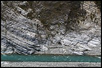 Marble cliff and Liwu River, Taroko Gorge. Taroko National Park, Taiwan (color)