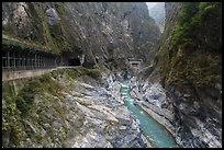 Gorge at Tunnel of Nine Turns, Taroko Gorge. Taroko National Park, Taiwan ( color)