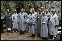 Buddhist monks. Taroko National Park, Taiwan ( color)