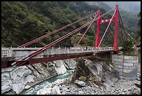 Cimu Bridge(Motherly Devotion Bridge), Taroko Gorge. Taroko National Park, Taiwan ( color)