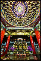 Ceiling and altar in gate, Wen Wu temple. Sun Moon Lake, Taiwan ( color)