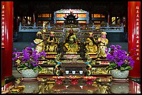 Confuscian statues on altar, Wen Wu temple. Sun Moon Lake, Taiwan ( color)