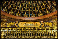 Detail of gilded ceiling and wall, Wen Wu temple. Sun Moon Lake, Taiwan ( color)