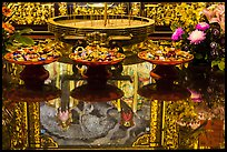 Reflections on altar table top, Wen Wu temple. Sun Moon Lake, Taiwan ( color)