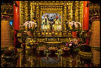 Altar and reflections, Wen Wu temple. Sun Moon Lake, Taiwan ( color)