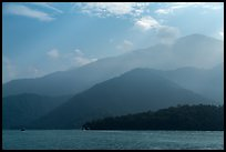 Mountain ridges. Sun Moon Lake, Taiwan ( color)