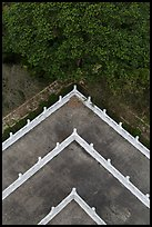 Corner of terraces seen from above, Tsen Pagoda. Sun Moon Lake, Taiwan ( color)