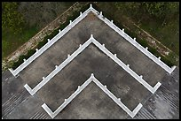 Terraces from above, Tsen Pagoda. Sun Moon Lake, Taiwan ( color)