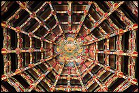 Plafond ceiling detail, Longshan Temple. Lukang, Taiwan (color)