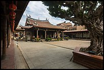 Main courtyard, Longshan Temple. Lukang, Taiwan (color)