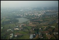 Aerial view of developped countryside. Taiwan ( color)