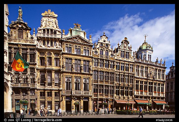 Guildhalls, Grand Place. Brussels, Belgium (color)
