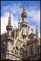 Roof of King's house, Grand Place. Brussels, Belgium (color)