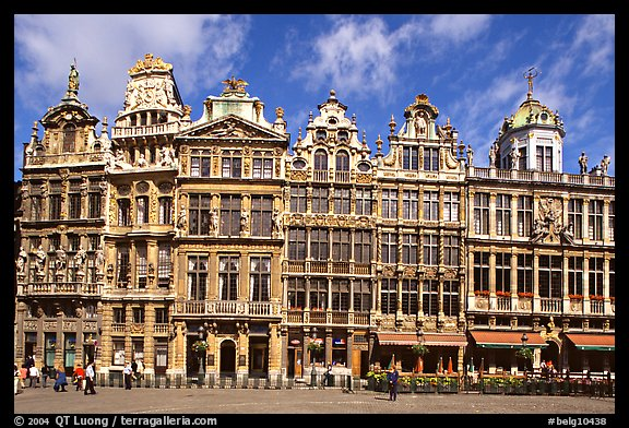 Baroque Guild houses, Grand Place. Brussels, Belgium (color)