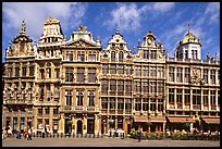 Baroque Guild houses, Grand Place. Brussels, Belgium