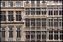 Detail of guild house facades. Brussels, Belgium
