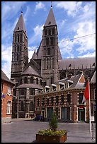 Notre Dame Cathedral, completed in the 12th century. Tournai, Belgium