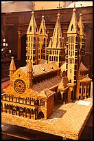 Model of Notre Dame Cathedral. Tournai, Belgium