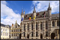 Gothic Town hall. Bruges, Belgium ( color)