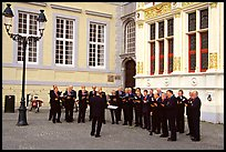 Choir singing on the Burg. Bruges, Belgium ( color)