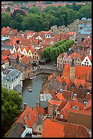 Canals and rooftops. Bruges, Belgium (color)