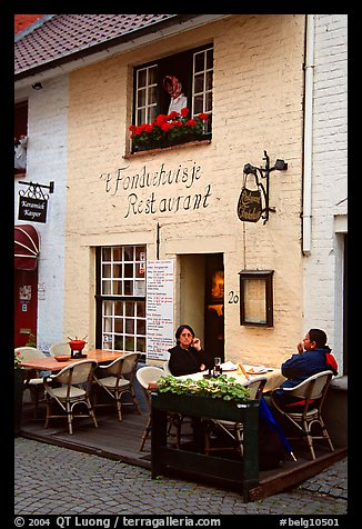 Restaurant. Bruges, Belgium (color)