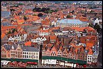 View of the town from the belfry. Bruges, Belgium ( color)