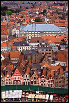 View of the town from tower of the hall. Bruges, Belgium ( color)
