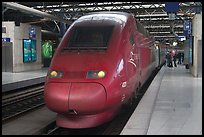 High speed train. Brussels, Belgium