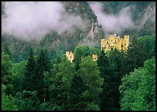 Hohenschwangau castle. Bavaria, Germany (color)